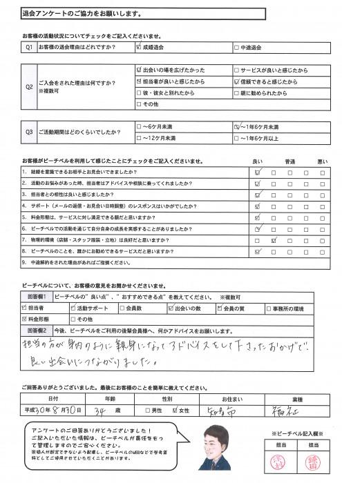 20181105成婚退会アンケート